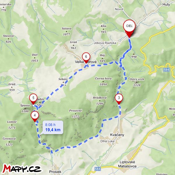 Kvačianska a Prosiecka Dolina Turistická Mapa