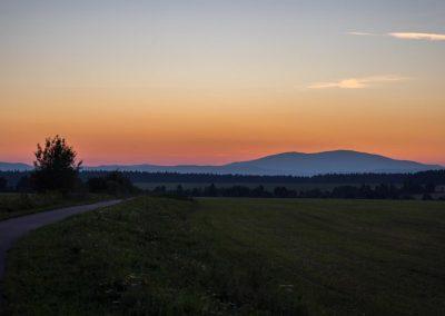 Cyklotrasa Trstená Západ Slnka